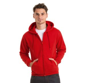 B&C Hooded Full Zip 50/50
