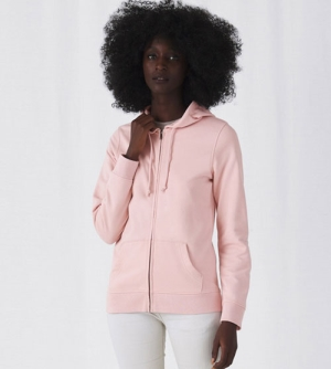 B&C Organic Zipped Hood Jacket dames Vest