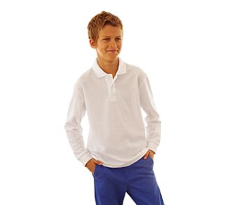 Fruit of the Loom 65/35 Polo Longsleeve Kids