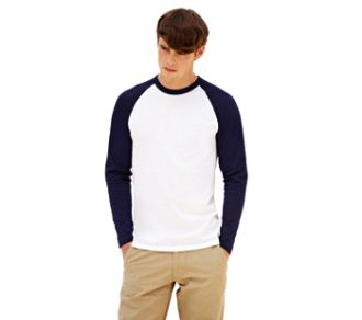 Fruit of the Loom T-shirt Baseball Longsleeve