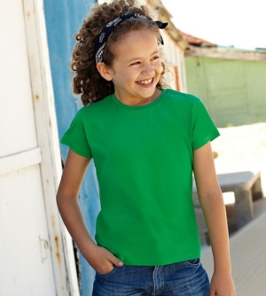 Fruit of the Loom Girls Valueweight T meiden T-shirt