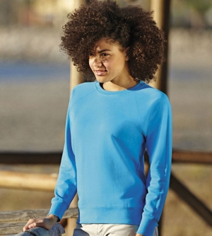 Fruit of the Loom Lightweight Raglan Sweat dames Sweatshirt