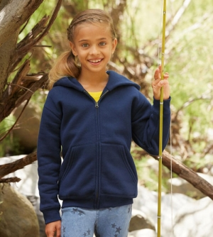 Fruit of the Loom Premium Hooded Sweat Jacket kinder Vest