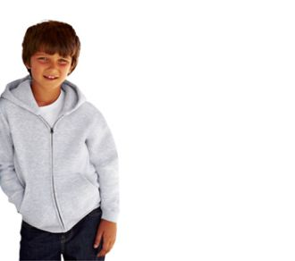 Fruit of the Loom Zip Trough Hooded Sweat Kids