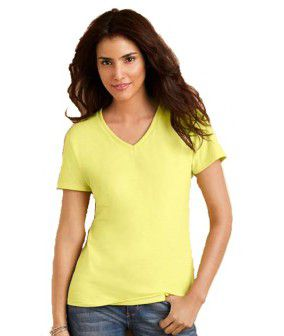 Gildan Premium Cotton Ladies V-Neck Adult T-shirt