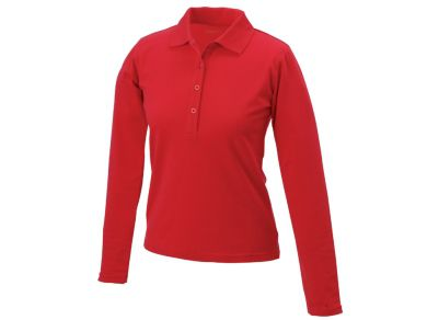 Ladies Elastic Polo Long-Sleeved