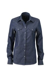 James & Nicholson Ladies Denim Shirt