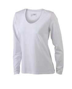 James & Nicholson T-shirt Ladies Stretch Round Long Sleeve