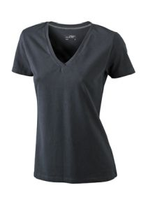 James & Nicholson T-shirt Ladies Stretch V-Neck