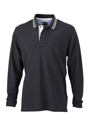 James & Nicholson Men's Lifestyle Polo Long-Sleeved