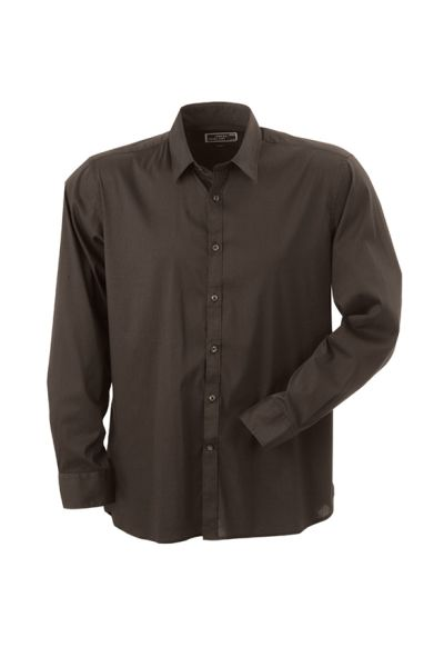 James & Nicholson Men's Shirt Slim Fit Long