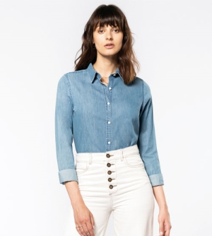 Kariban Chambray Blue dames Shirt