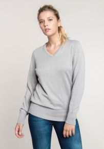Kariban Dames Pullover V-Neck
