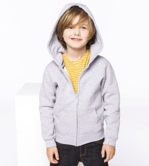 Kariban Hooded Sweater met Rits kinder Vest