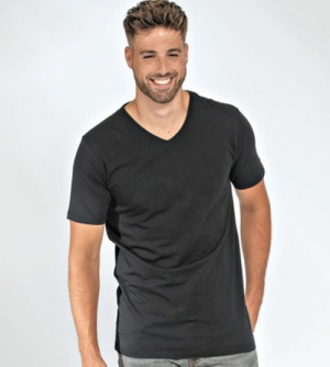 Lemon & Soda Fine Cotton Elastane heren T-shirt V-hals