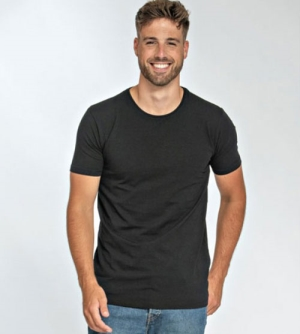 Lemon & Soda Fine Cotton Elastane heren T-shirt ronde hals