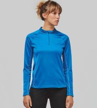 Pro-Act Ladies Running Sweaters met Halsrits
