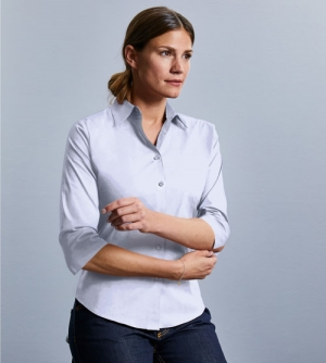 Russell 3/4 Sleeve Fitted Stretch dames Shirt