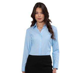 Russell Collection Ladies Oxford Shirt LS