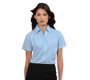 Russell Collection Ladies Oxford Shirt SS