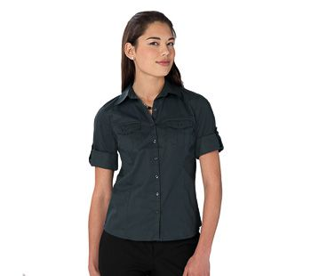 Russell Collection Ladies Roll Sleeve Shirt 3/4