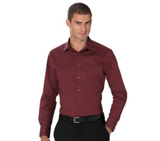 Russell Collection Men's Polycotton Poplin Shirt LS