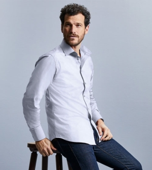 Russell Longsleeve Fitted Stretch heren Shirt