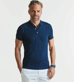 Russell Men's Fitted Stretch heren Polo