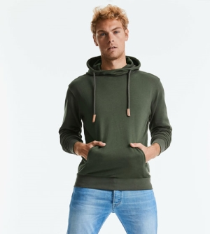Russell Pure Organic High Collar Hooded Sweat heren Hoodie