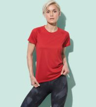 Stedman Ladies Raglan Mesh Active-Dry T-shirt