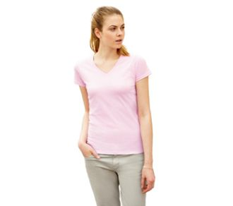 Fruit of the Loom T-shirt Lady-Fit Valueweight V-hals